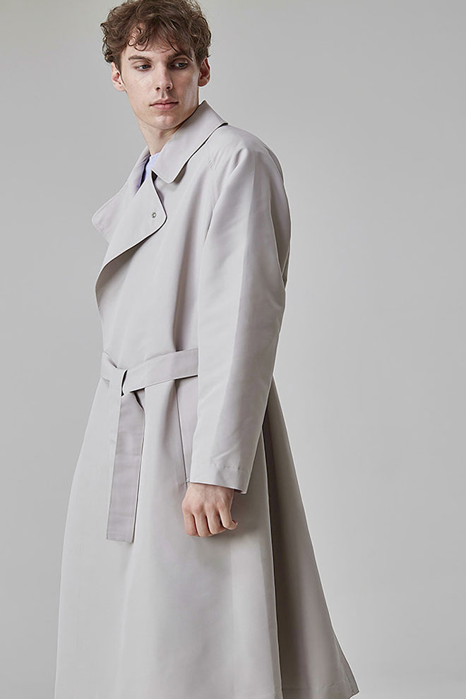 Concealed Snap Button Coat