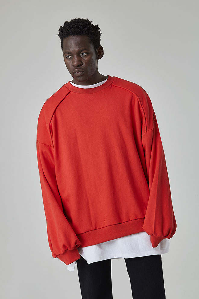 Drop Shoulder Extended Sleeve Sweatshirt