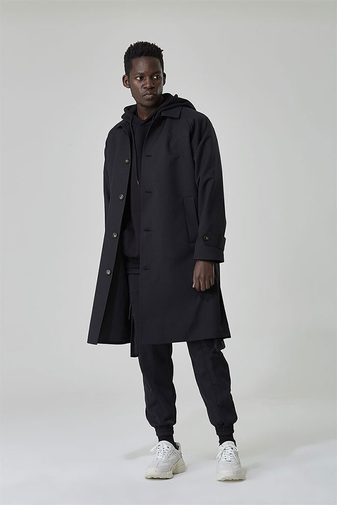 Single-Breasted Loose Fit Coat
