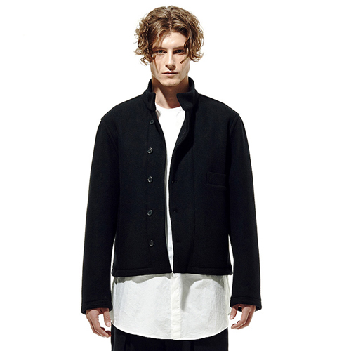 IRONY PORN(O) Wool China Collar Bomber Jacket