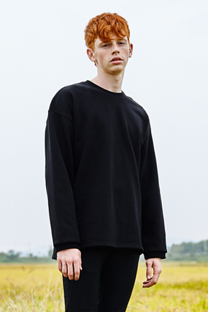 AWESOME IMAGINATION GIANT NATURAL SWEAT T-SHIRTS Black