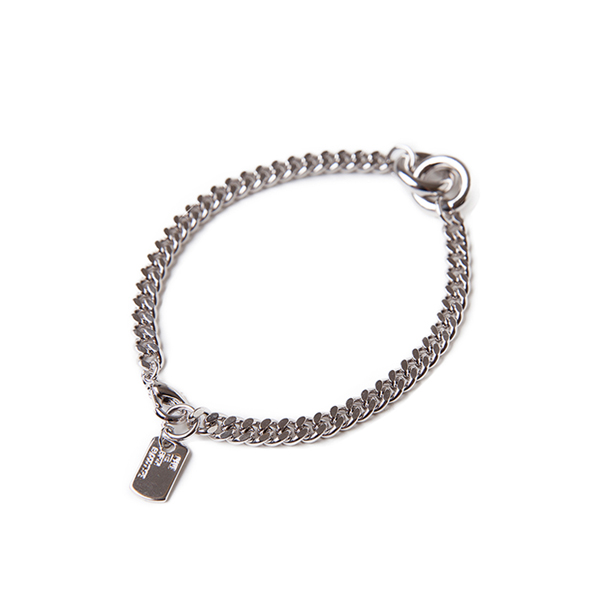 Engraved Tag Curb Chain Bracelet