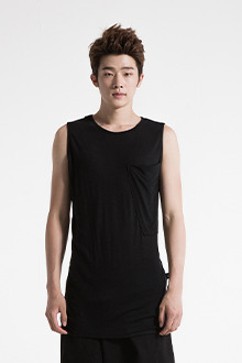 IRONY PORN(O)VOYEUR LABELPocket Point Sleeveless T-shirt