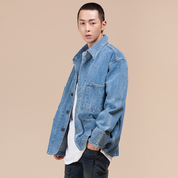 OVER-FIT DENIM COAT오버핏 데님 코트[one color / one size]