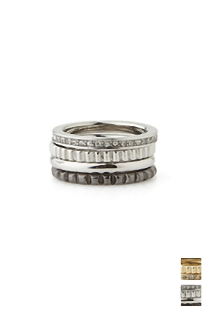 QUATTRO 4PIECE RING 콰트로 4피스 링 [2color / one size]