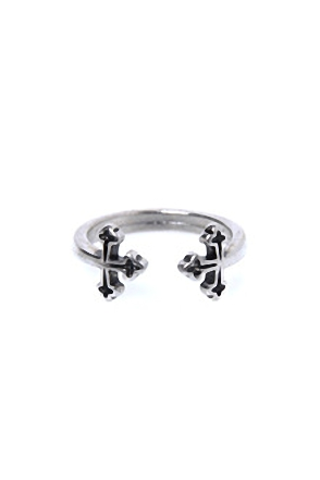 DOUBLE CROSS RING더블 크로스 반지[2color / one size]